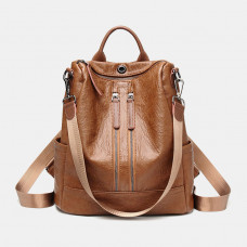 Women Anti-theft Fashion Multifunctional Backpack Crossbody Bag