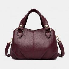 Women Fashion Solid Waterproof Handbag Crossbody Bag Shoulder Bag