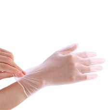 Baterway 100*Pcs Disposable PVC BBQ Gloves Waterproof Antibacterial Anti-virus Glove