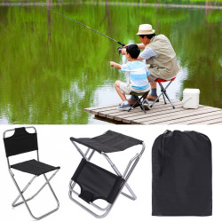 ZANLURE 2 In 1 Folding Fishing Chair Camping Picnic Beach Seat Portable Stool