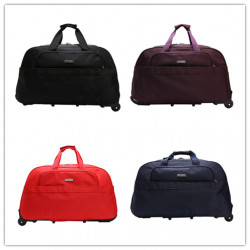 High Capacity Travel Duffle Luggage Trolley Bag With Wheels Rolling Suitcase Travel Bags Carry-On Bag
