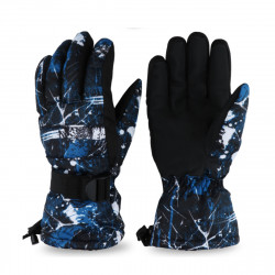 Woman and Man Waterproof Flannel Skiing Gloves Outdoor Camping Hiking Climbing Winter Warm Gloves Sports Gloves