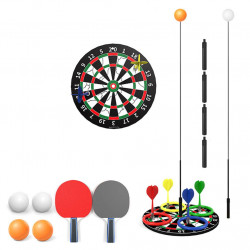 3 In 1 Children Family Game 0.9-1.1m Adjustable Table Tennis Trainer Darts Ferrule Game Practice Machine