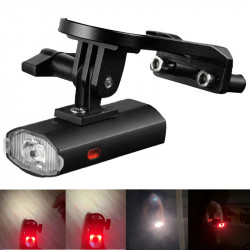 WEST BIKING 650LM 6Modes USB Rechargeable Bicycle Light Front Holder Waterproof Bike Sidelight Taillights