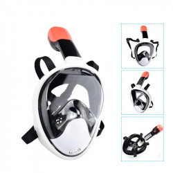 DEDEPU Full Face Snorkeling Mask Anti Fog Swim Diving Mask Adjustable Scuba Mask