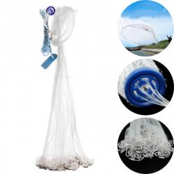 Zanlure 3M Hand Throw Nylon Cast Fishing Net Clear Bait Net Spin Network Sinker