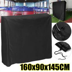 Black Table Tennis Protector 160cm Waterproof Dustproof Ping Pong Table Storage Cover