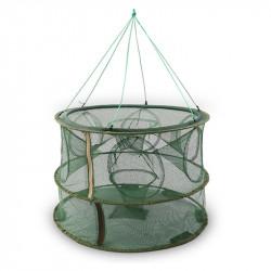 ZANLURE 8/9/13/15 Holes Foldable Double Layer Fishing Net Fish Shrimp Fishing Trap Cast Net