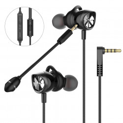 Langsdom G200X Gaming Headset Dual Dynamic Driver Stereo Wired In-ear Earphone Noise Cancelling with Dual Mic for PS4 PC Computer
