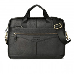 Men Leather Business Briefcase Travel Shoulder Bag Portable Laptop Bag Messenger Handbag