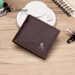 Men Genuine Leather Vintage RFID Blocking Wallet