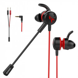 Somic G618I Gaming Headphone 3.5mm Wired Control Stereo EarphoneL Bend In Ear Headset with Dual HD Mic for PUBG Gamer PC Laptop