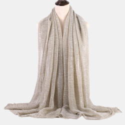 Gold and Silver Soft Hijab Islamic Shawl Scarf Cap Head Cover Gift Collectsound