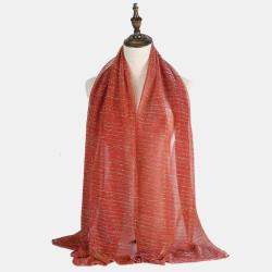 70 * 180CM Women Scarf Gold Silver Silk Hijab