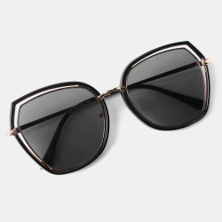 Women's Leopard Round Frame Retro Sunglasses