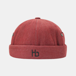 Unisex Personality Brimless Hats Solid Color Letter Embroidery Landlord Hat Melon Hat Hip Hop Hat
