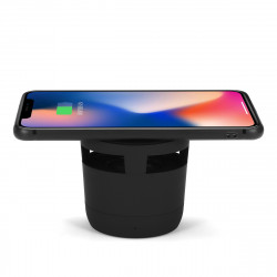 Portable 5W 2-in-1 Wireless Charger bluetooth Hifi Stereo Speaker Music Player Built-in 300mA Battery