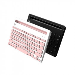 FD IK3381 Wireless bluetooth Keyboard 78 Keys Multi-devices Connection Office Keyboard iPads Tablet Phone Stand Holder
