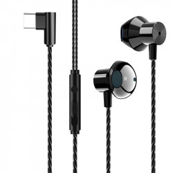 F13 Portable Type-c Metal Bass Music Wired Earphone Gaming Headphone for Xiaomi Huawei