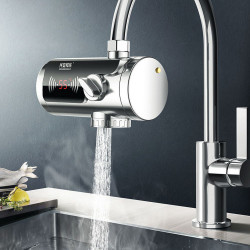 KCASA JB-14A 2000W Stainless Steel Connecting 3Sec Instant Hot Water Faucet LCD Temperature Display  For Kitchen Bathroom