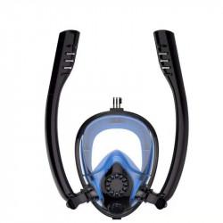 DEDEPU Snorkeling Mask Anti-fog Diving Mask Double Breathing Tube Mask Diving Equipment