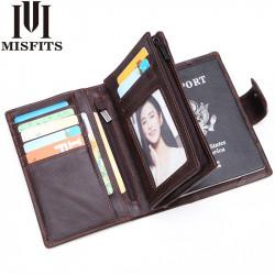 Men Genuine Leather Vintage Retro Multi-layer Wallet Card Holder