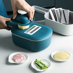 Kitchen Multi-functional Vegetable Cutter Slicer Multifunctional Round Mandoline Slicer Potato Cheese Kitchen Gadgets Fruit Grater