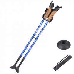 2PCS Campleader Ultralight 3-Section Folding Trekking Pole Walking Stick Camping Hiking Cane