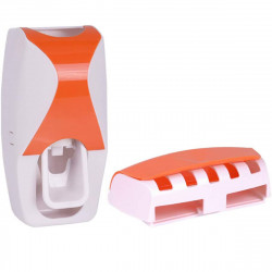Automatic Toothpaste Dispenser Toothbrush Holder Rack for Home Toilet Bathroom