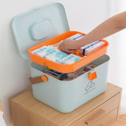 Medicinee Box Pill Storage Container Household Travel Organiser First Aid Case