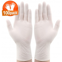 IPRee 100*Pcs Disposable Nitrile BBQ Gloves Waterproof Safety Glove Disposable Gloves Protective Gloves