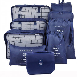 9 PCS Storage Bag Waterproof Traveling Luggage Bag Clothes Storage Bag Laundry Pouch