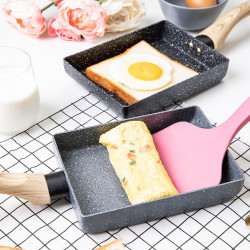 Kitchen Portable Non-stick Medical Stone Coating Frying Pan Omelette Egg Roll Maker Pot