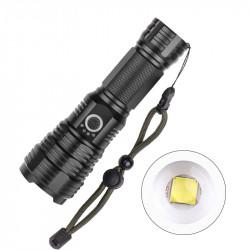 XANES 1915B LED Flashlight XHP70 5Modes Zoomable USB Rechargeable Waterproof Flashlight 26650/18650 Flashlight