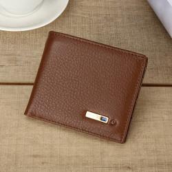 Men Vintage Genuine Leather Card Holder Wallet