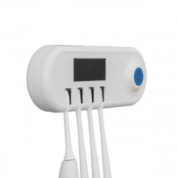 Ultraviolet Wall Mounted Toothbrush Sterilizer Warm Air Dryer Solar Panel