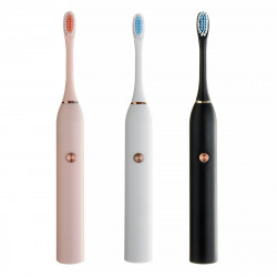 IP67 Powerful Ultrasonic Electric Toothbrush Battery Type Tooth Brush Oral Care Teeth Cleaner With Replacement Heads