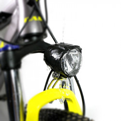 6V 12W IPX4 150LUX Electric Bicycle Waterproof Front LED Headlights eBike Light For BAFANG Mid Drive Motor