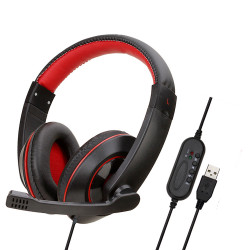 Soyto SY722MV USB Wired Game Headset Bass Gaming Headphone Stereo Headphones Earphone with Microphone for Computer PC Gamer