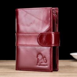 Men Vintage Genuine Leather Anti-theft Credit Card Wallet