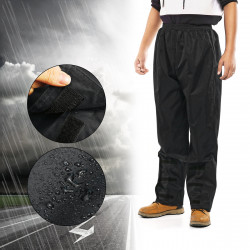 ZANLURE Adults Waterproof Thick Adjustable Fishing Trousers Fishing Bike Walking Rain Outdoor Wear Pants Fishing Clothing