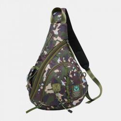 Men Fashion Cool Large Capacity Nylon Waterproof Chest Bag Shoulder Bag For Outdoor