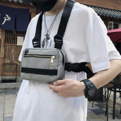 Men Women Fashion Tactical Chest Bag Couples Vest-style Functional Backpack
