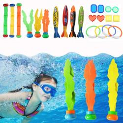 22 Pcs Diving Toys Dive Ring Torpedo Sticks Summer Swimming Recreation Kit Set Underwater Toys