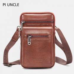 Men Genuine Leather Waist Bag Crossbody Bag Shoulder Bag