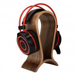 Wooden Headset Stand Arch Bridge Shape Gaming Headphone Display Holder Hanger Walnut Headphone Rack