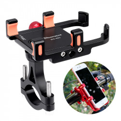 "BIKIGHT 360 Rotation 3.5-6.5"" Adjustable Alloy Mount Bicycle Handlebar Phone Rack GPS Phone Holder Scooter E-bike Bracket"""