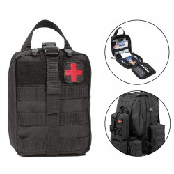 Outdoor Travel First Aid Kit Tactical BagTravel Oxford Cloth Tactical Waist Pack Camping Climbing Bag Tactical Wild Survival Emergency Kit