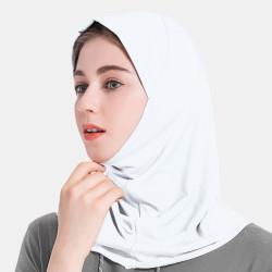 Women Solid Crystal Hemp Hijab Scarf