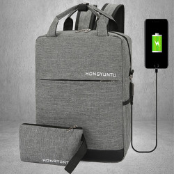 Men Women Large Capacity Light Weight Backpack With USB Charging Port
